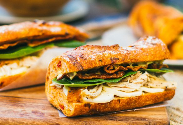 Chicken and Spinach Baguette