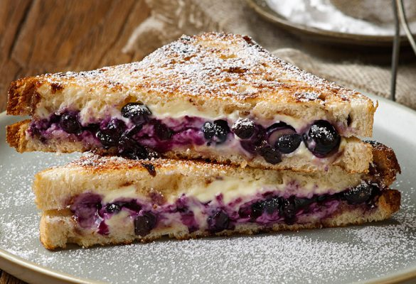 Blueberry Cream Cheese Toasty