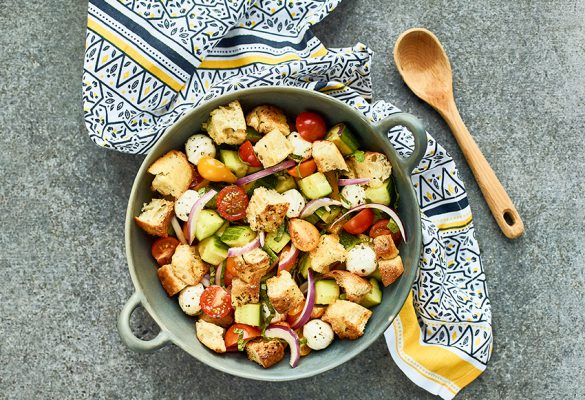 Lemon-Garlic-Panzanella