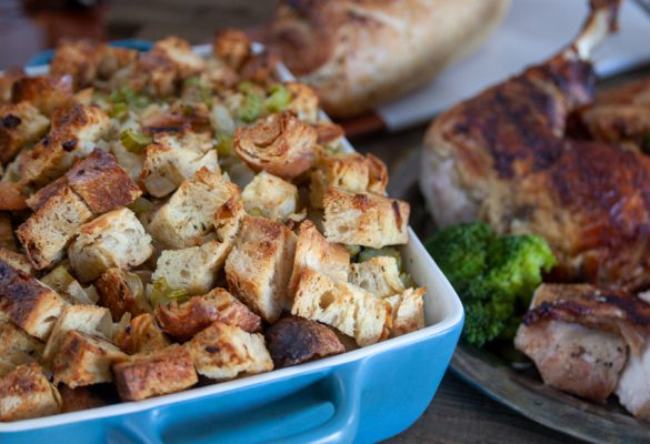 Sourdough Stuffing with Bacon