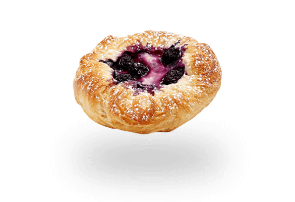 Mini Blueberry and Custard Danish