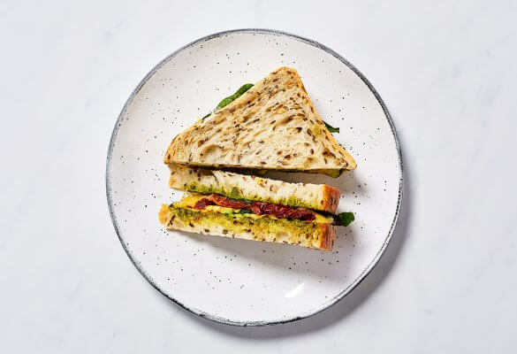 Grilled Vegetable and Havarti Sandwich