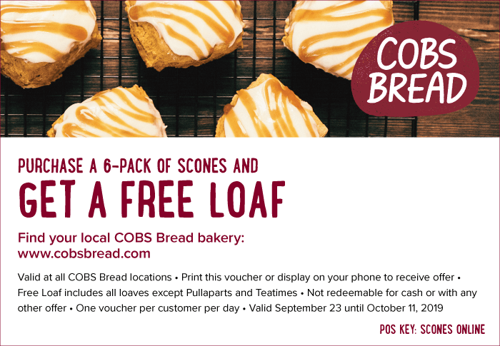 Scones Free Loaf Voucher