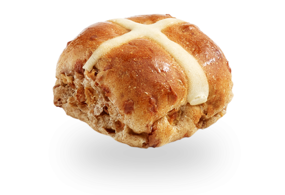 Apple Cinnamon Hot Cross Bun