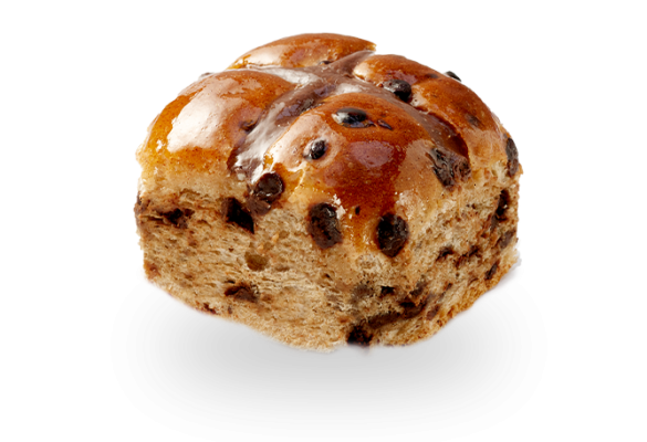 Chocolate Chip Hot Cross Bun