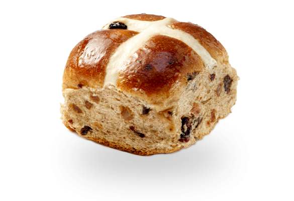 Traditional Fruit Hot Cross Bun
