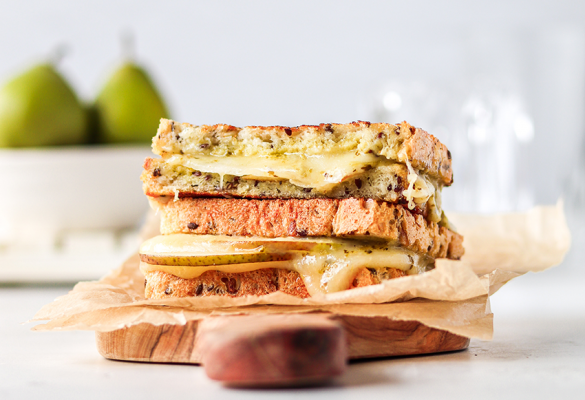 Pesto & Pear Grilled Cheese