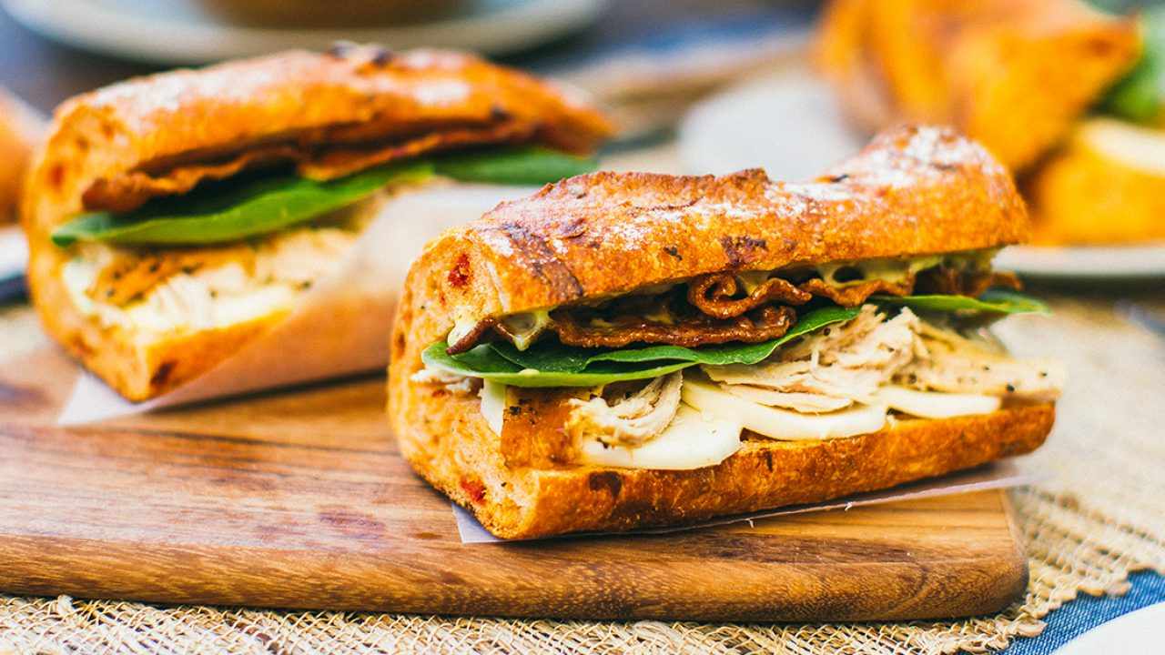 Chicken And Spinach Baguette Sandwich Cobs Bread Usa