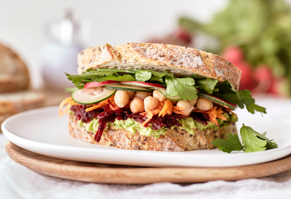 Sunflower Flax Sourdough Ultimate Salad Sandwich