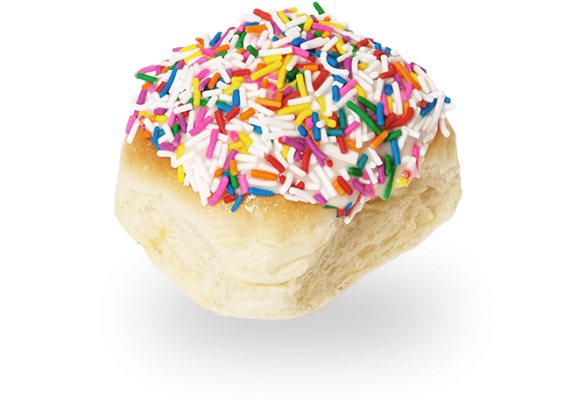 Fun Bun with Cream Cheese Icing & Sprinkles