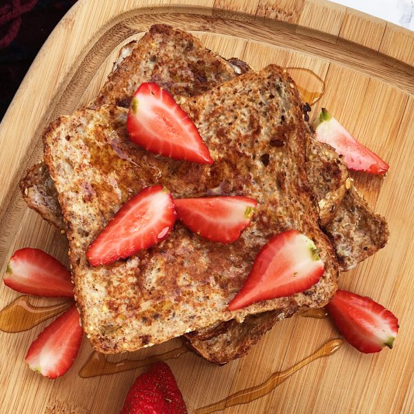 Healthy French Toast with Strawberries - 1080