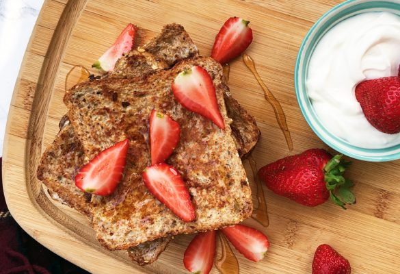 Healthy French toast with Strawberries - 850