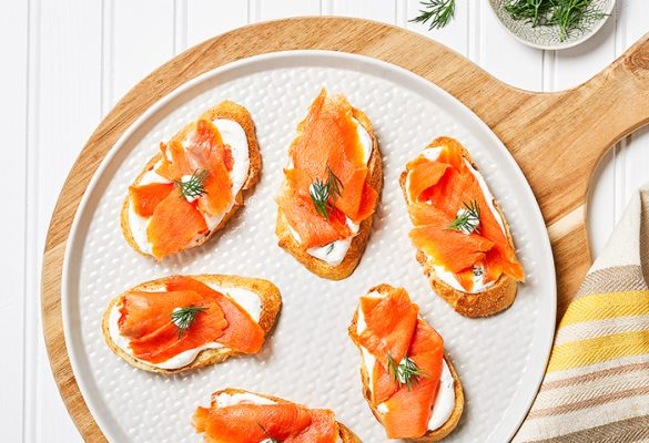 Smoked Salmon and Dill Crostini