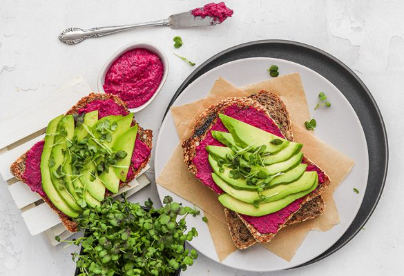 Beetroot and Avocado toast